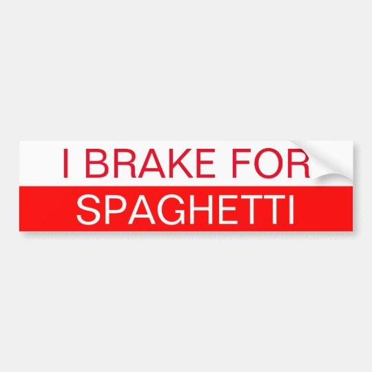 Freno para los espaguetis pegatina para coche