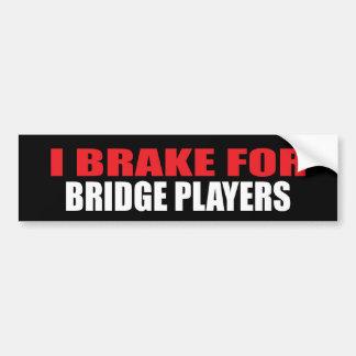 Freno para los jugadores de puente pegatina para coche