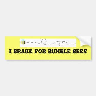 Freno para manoseo abejas pegatina para coche