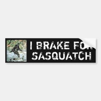 Freno para Sasquatch Pegatina Para Coche