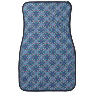 Frente azul de las alfombrillas de auto del