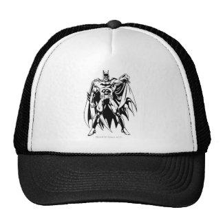 Frente blanco y negro de Batman Gorro De Camionero