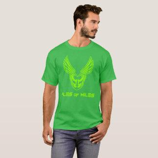 Frente completo verde de neón del logotipo de PoM Camiseta
