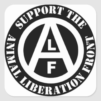 Frente de liberación animal vegetariano de la pegatina cuadrada