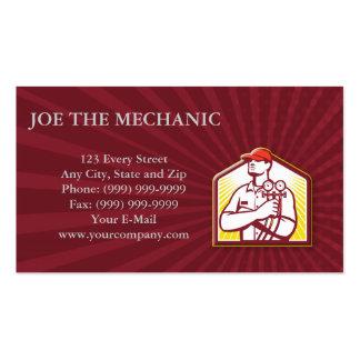 Frente del mecánico del aire acondicionado de la r tarjeta de visita