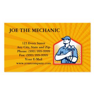 Frente del mecánico del aire acondicionado de la r tarjetas de visita