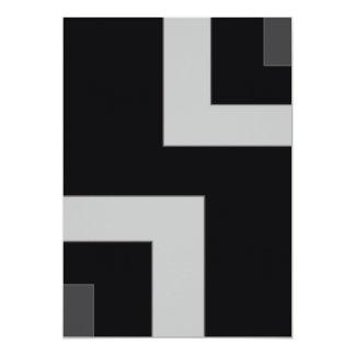 Frente negro/gris del espacio en blanco de la invitación 12,7 x 17,8 cm