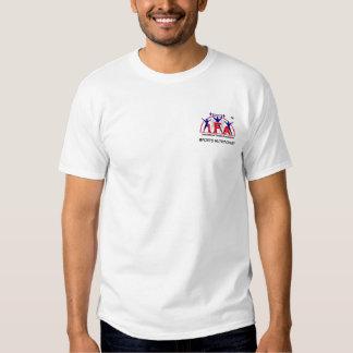 Frente y parte posterior del nutricionista de los camisetas