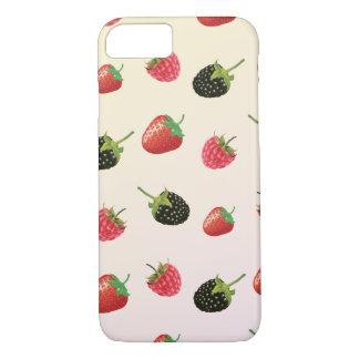 Fresa, Blackberry, frambuesa: fruta deliciosa Funda iPhone 7