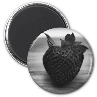 Fresa blanco y negro imán redondo 5 cm