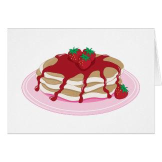 Fresa de las crepes tarjeta de felicitación