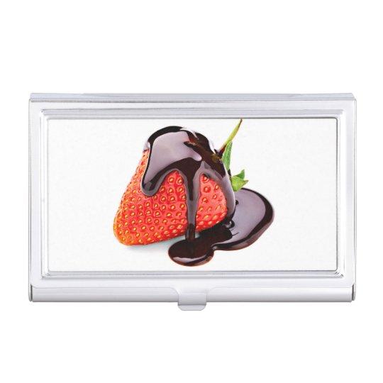 Fresa del chocolate cajas de tarjetas de negocios