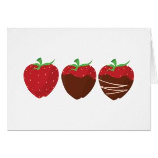 Fresa del chocolate felicitación