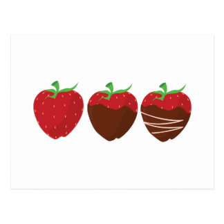 Fresa del chocolate postales