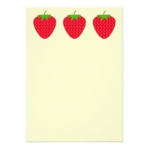 Fresa roja invitaciones personalizada