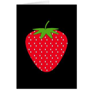 Fresa roja tarjetón
