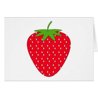 Fresa roja tarjeta de felicitación