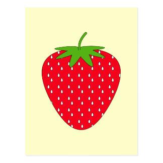 Fresa roja tarjeta postal