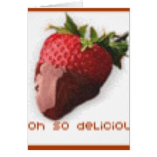 fresa tarjeta de felicitación