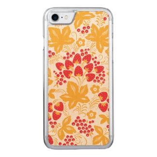 Fresa y arce funda para iPhone 8/7 de carved