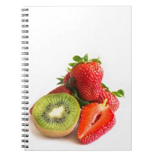 Fresa y kiwi cuaderno