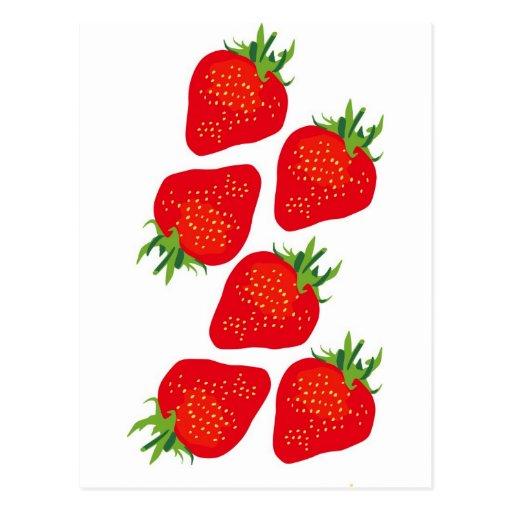 Fresas bonitas postales