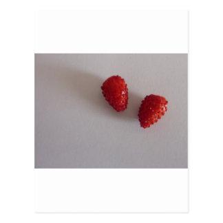 Fresas como corazón postal