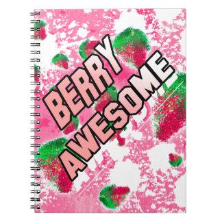 Fresas con sabor a fruta impresionantes de la baya cuaderno