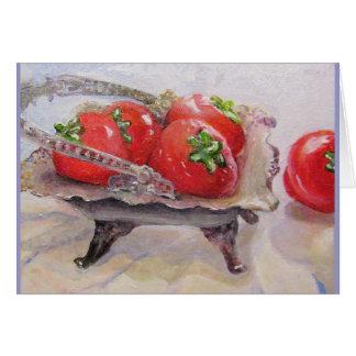 Fresas de cristal grandes tarjeta de felicitación