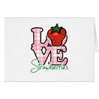 Fresas del amor tarjetas