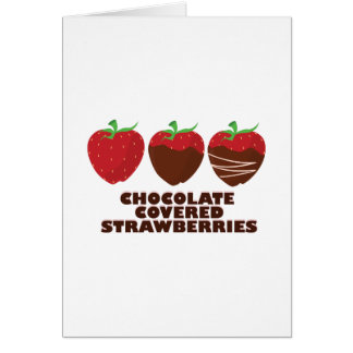 Fresas del chocolate tarjetón