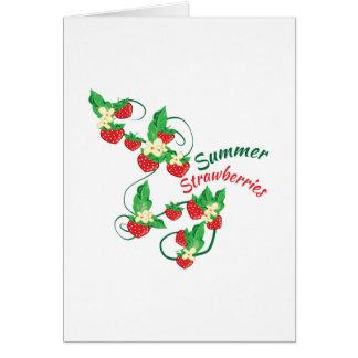 Fresas del verano felicitacion