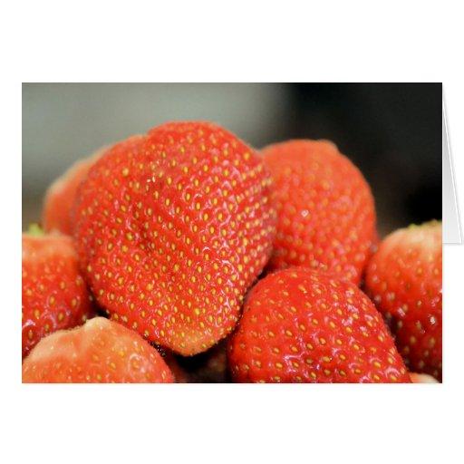 Fresas deliciosas felicitacion