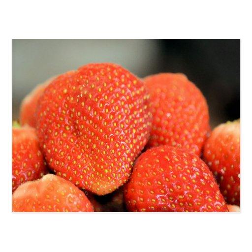 Fresas deliciosas tarjetas postales