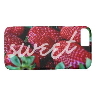 Fresas dulces del caso del verano funda para iPhone 8/7