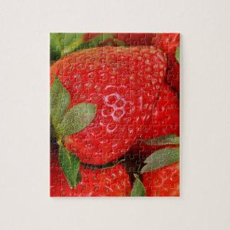 Fresas dulces rojas puzzle
