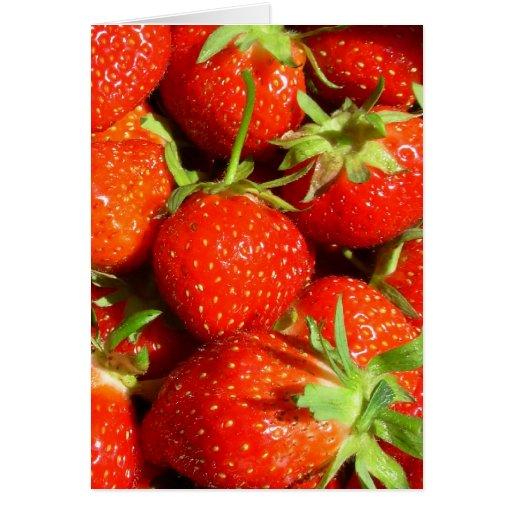 Fresas dulces tarjetón