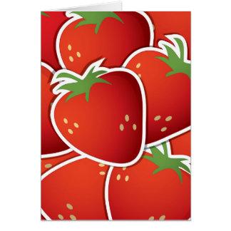 Fresas enrrolladas tarjeta pequeña