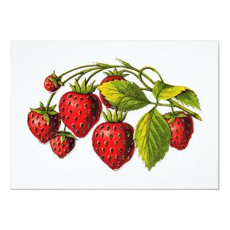 Fresas frescas invitación 12,7 x 17,8 cm