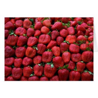 Fresas frescas tarjeta de felicitación