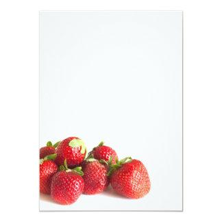 Fresas Invitación 12,7 X 17,8 Cm