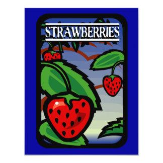 Fresas Invitación 10,8 X 13,9 Cm