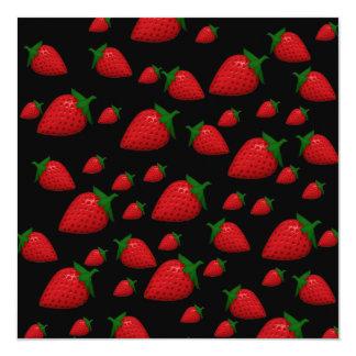 Fresas Invitación 13,3 Cm X 13,3cm