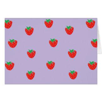 Fresas púrpuras tarjeta de felicitación