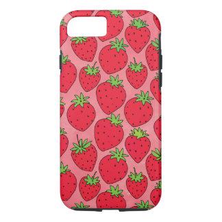 Fresas rojas en rosa funda para iPhone 8/7