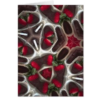 Fresas sumergidas tarjeta de felicitación