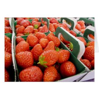 ¡Fresas! Tarjeta De Felicitación
