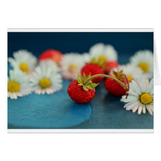 fresas tarjeta de felicitación