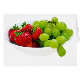 Fresas y uvas tarjeton