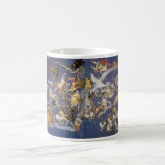 Fresco celestial de la astronomía del vintage, taza de café